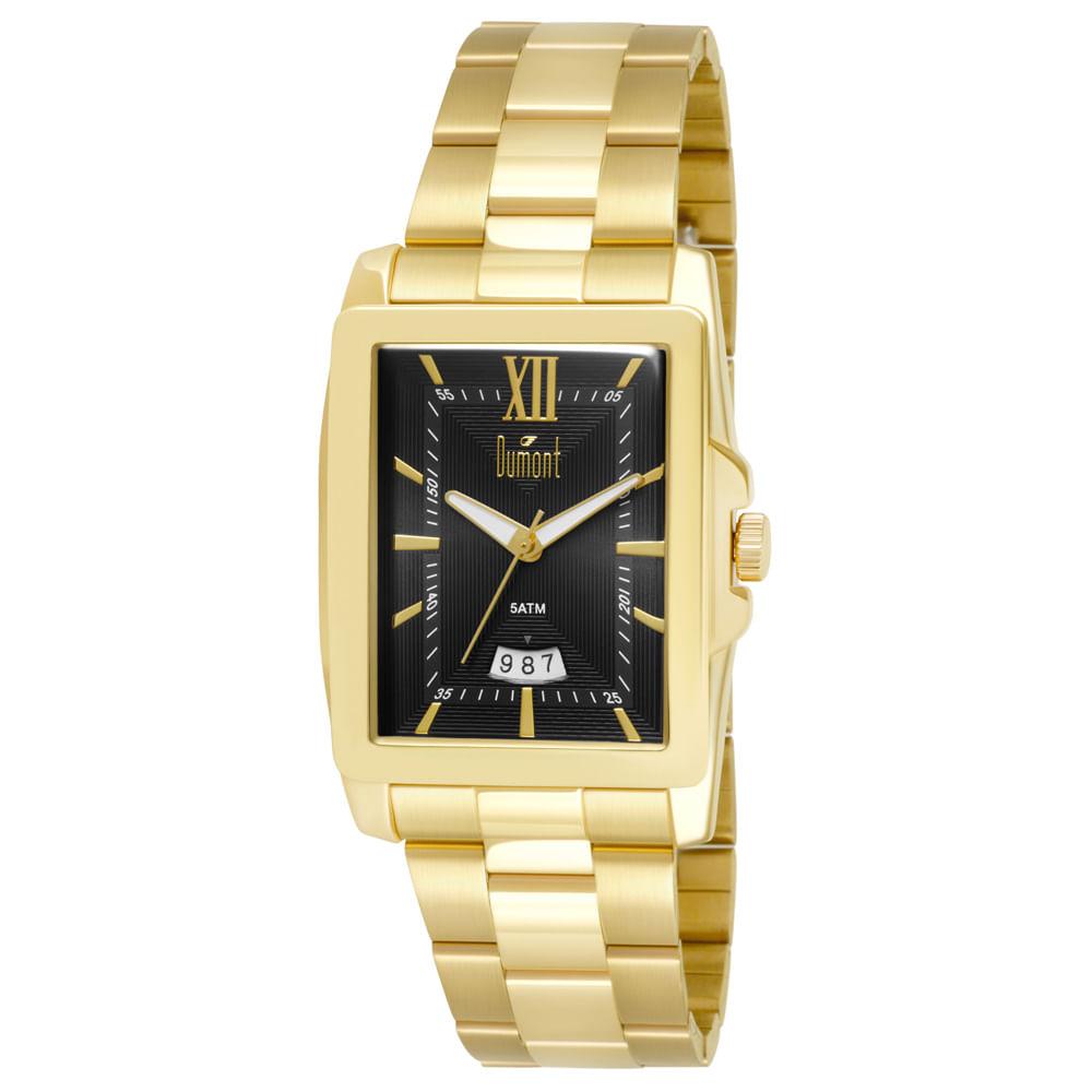 016d89b444f Relógio Dumont Berlim Masculino DUGM10AF 4P Dourado - Tempo de Black ...