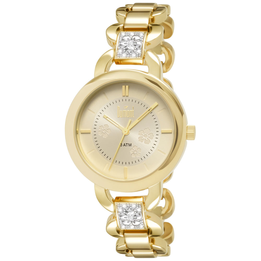 941634aad6e Relógio Dumont Splendore Feminino DU2035LQH 4D Dourado - timecenter