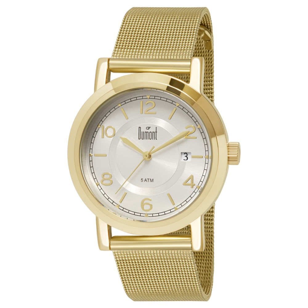 55ad3abb0f631 Relógio Dumont London Feminino DU2115DM 4K Dourado - timecenter