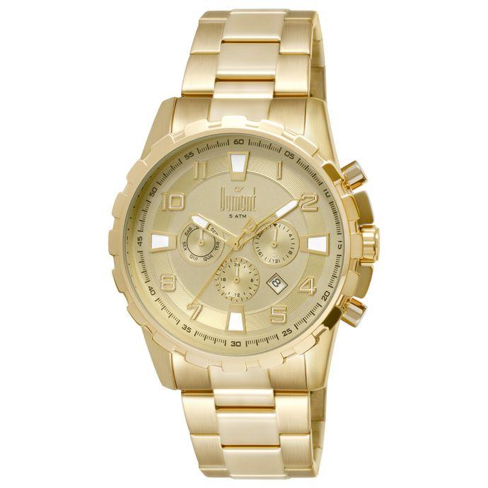2eed5b9c565 Masculino Relógio - Dumont Aço Dourado – Tempo de Black Friday