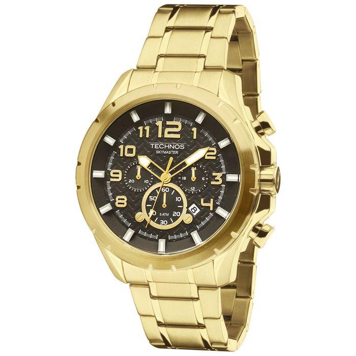 867dc0f5d1d60 Relógio Technos Skymaster JS25BF 4P Dourado - technos