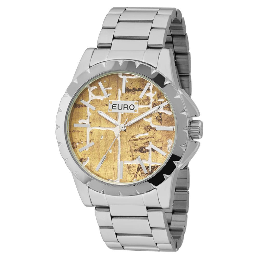 Relógio Euro Feminino Cortiça EU2039IT 3M - Prata - timecenter 09c4e611f0