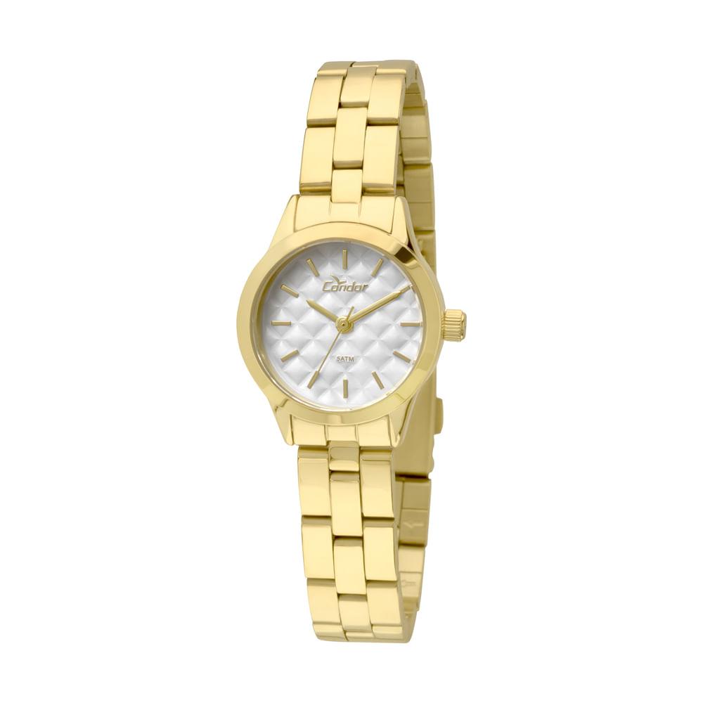 ff0edd4aac1 Relógio Condor Feminino Mini CO2036KNY 4B - Dourado - condor