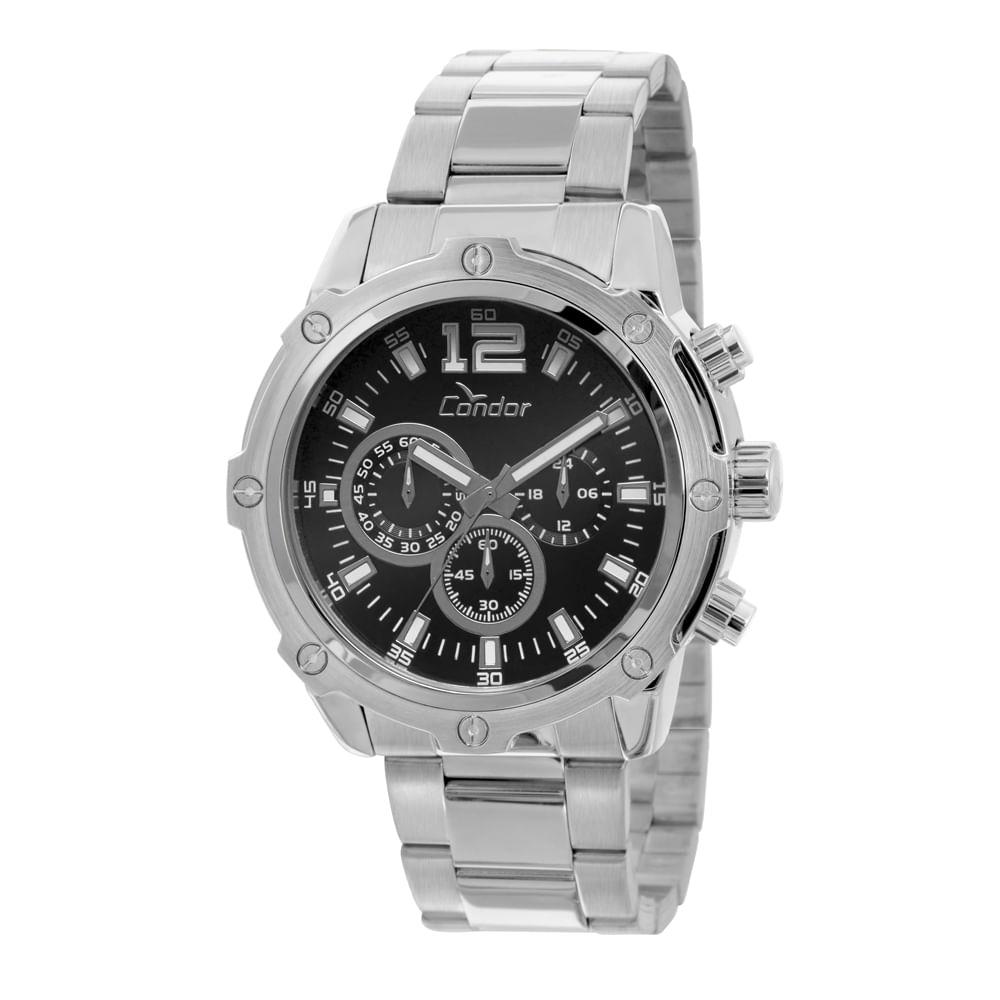 93f55b44fc9 Relógio Condor Masculino Civic COVD54AD 3P - Prata - condor