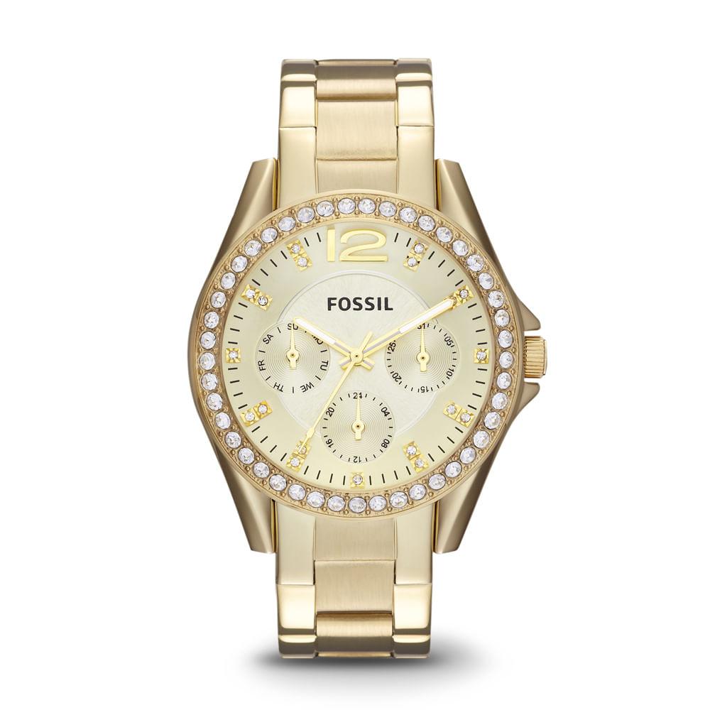 ea1e4a92143139 Relógio Fossil Feminino Riley - ES3203/4DN. ES32034DN; ES32034DN_2;  ES32034DN_3