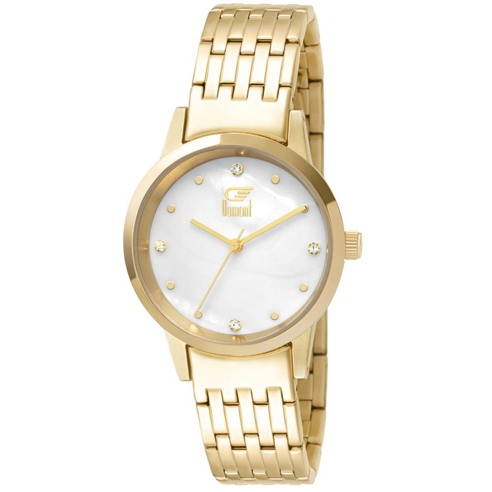 7065bd575d7 Relógio Dumont Slim DU2036LTX 4D Dourado - timecenter