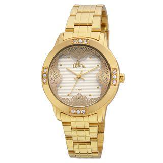 d0cd26cfeb9 Relógio Allora Feminino Listras e Rendas AL2035FGH 4K - Dourado