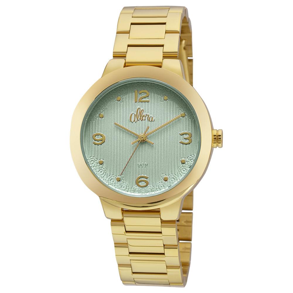 Relógio Allora Feminino Listras e Rendas AL2035FGK 4Z - Dourado ... 7e94706504