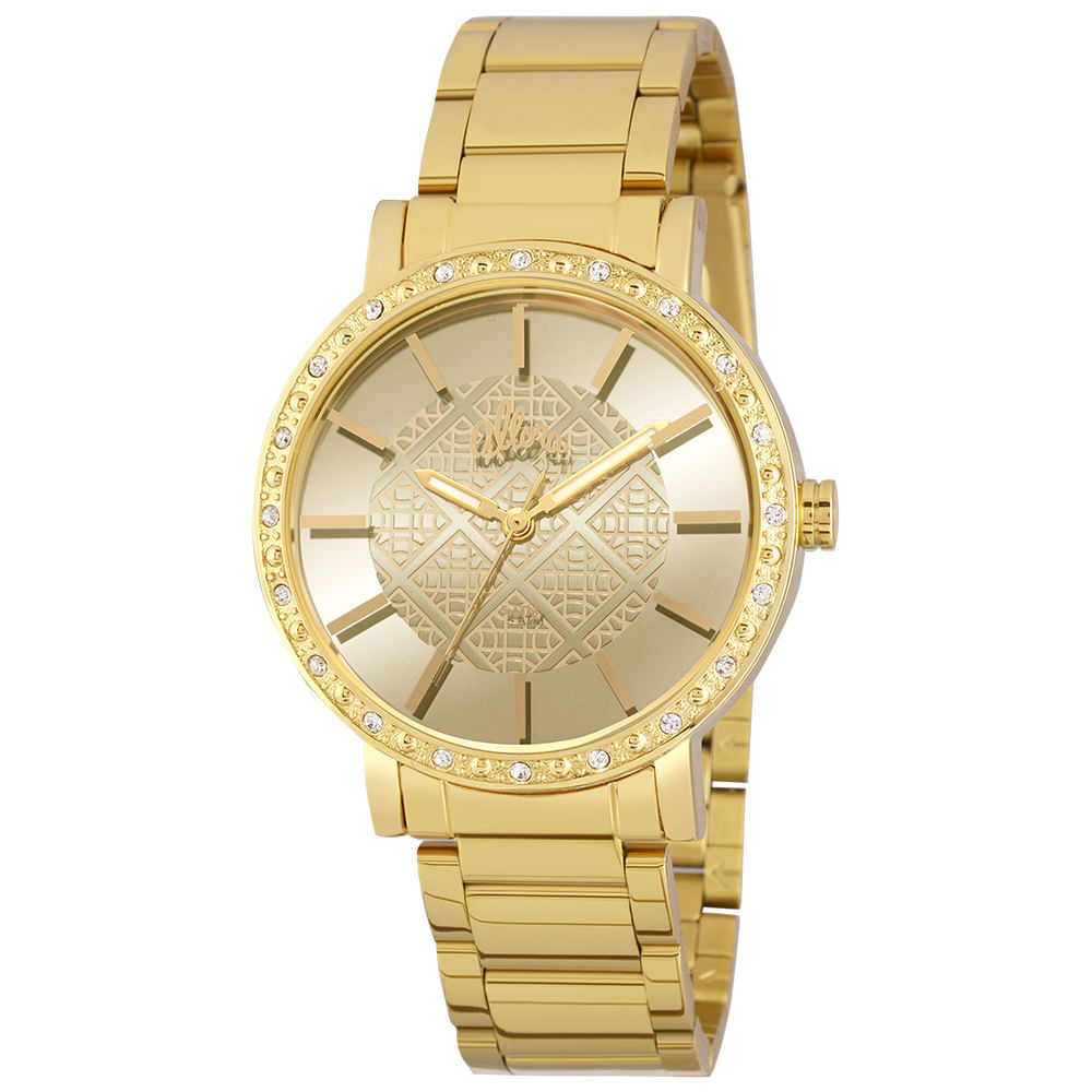 de37e51d1ee Relógio Allora Feminino Espelhados Geométricos AL2035FHL 4D - Dourado -  timecenter