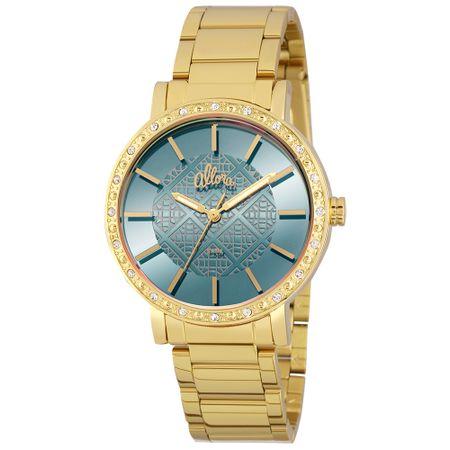 Relógio Allora Feminino Espelhados Geométricos AL2035FHL 4A - Dourado 657e90fd34