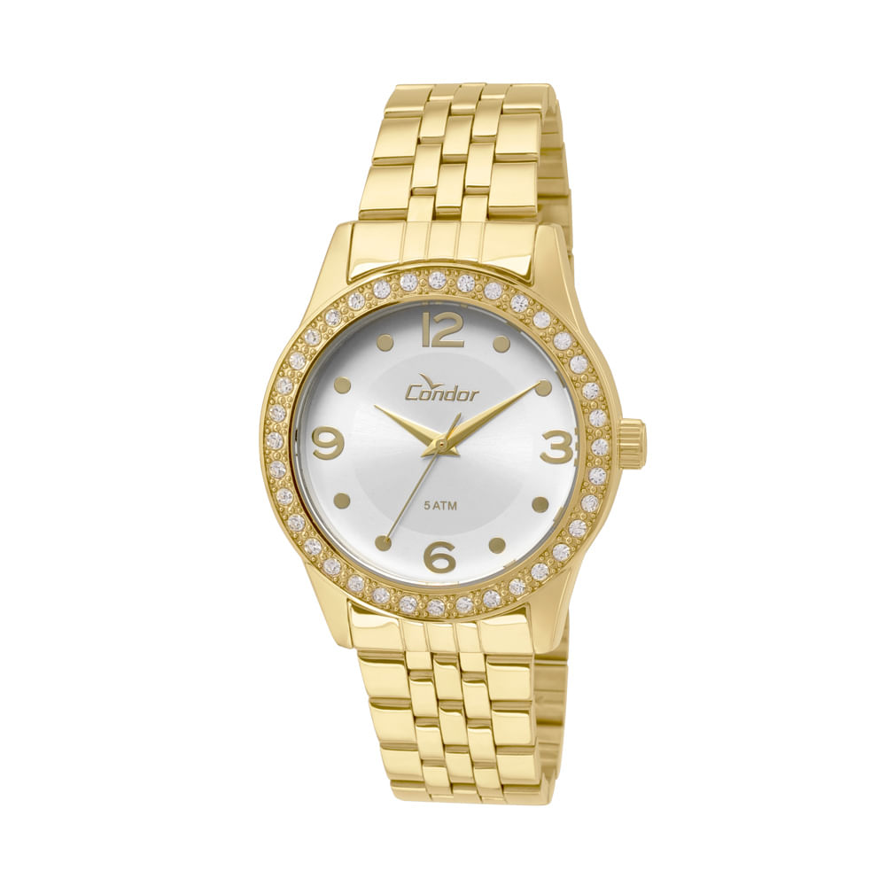 cefc5a70d92 Relógio Condor Feminino Bracelete CO235KOY 4K - Dourado