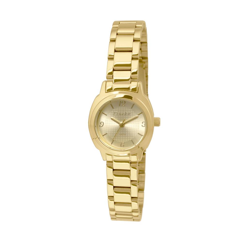 4d36f401579d0 Relógio Condor Feminino Mini CO2035KPG 4D - Dourado - timecenter