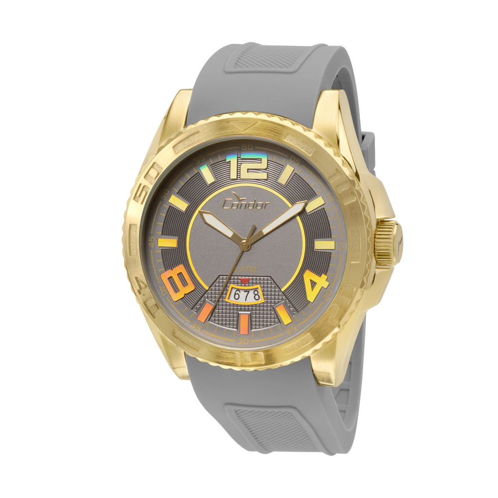 Relógio Condor Masculino Civic CO2315AT 8C - Cinza - timecenter 8198f1eeff