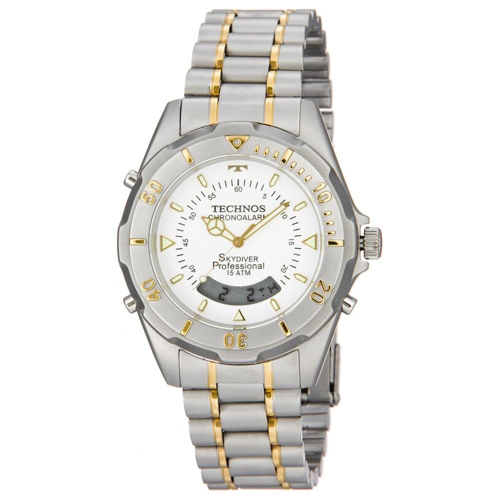 e15041d8b9d Relógio Technos Masculino Analógico Prata e Dourado T20557 9B ...