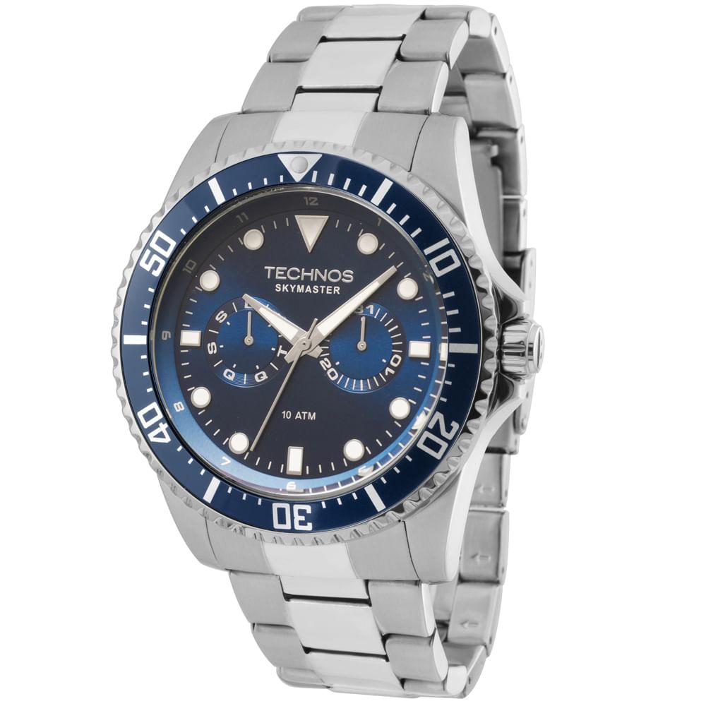 Relógio Technos Masculino Skymaster Analógico - 6P25BG 1A - timecenter 7788ffaead