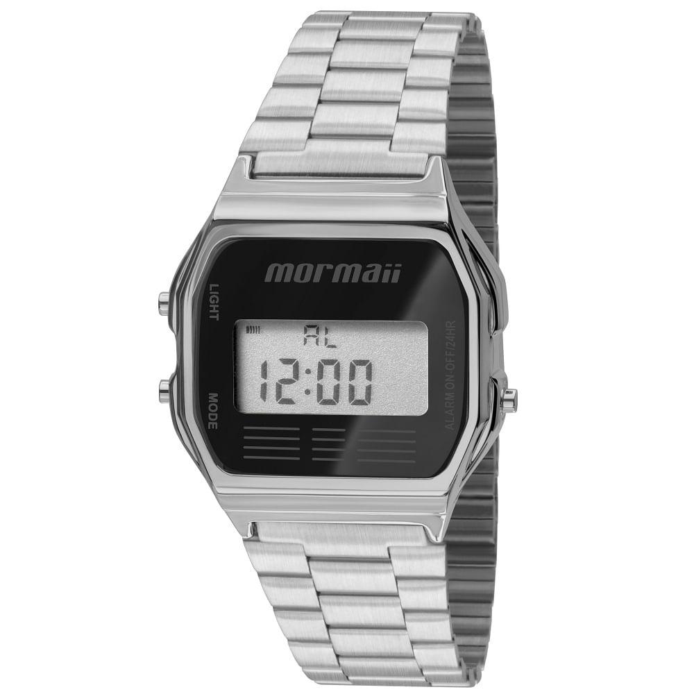 91383e218fdd0 Relógio Mormaii Maui MOJH02AA 3P Prata - timecenter