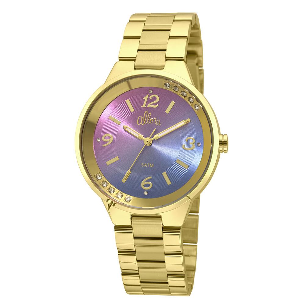 Relógio Allora Feminino Candy Colors AL2035FHS 4G - Dourado - timecenter d33e5aa17a