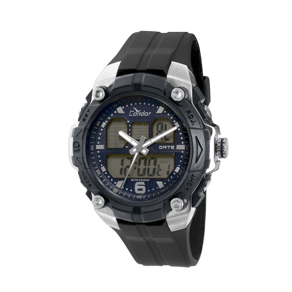 2f3409efe16 Relógio Condor Masculino Anadigi COAD0912A 8A - Preto - timecenter