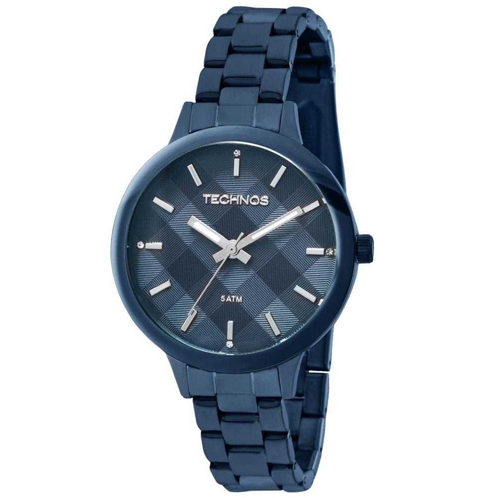 ca5b90b49716e Relógio Technos Trend Feminino 2036MGL 4A Azul - technos