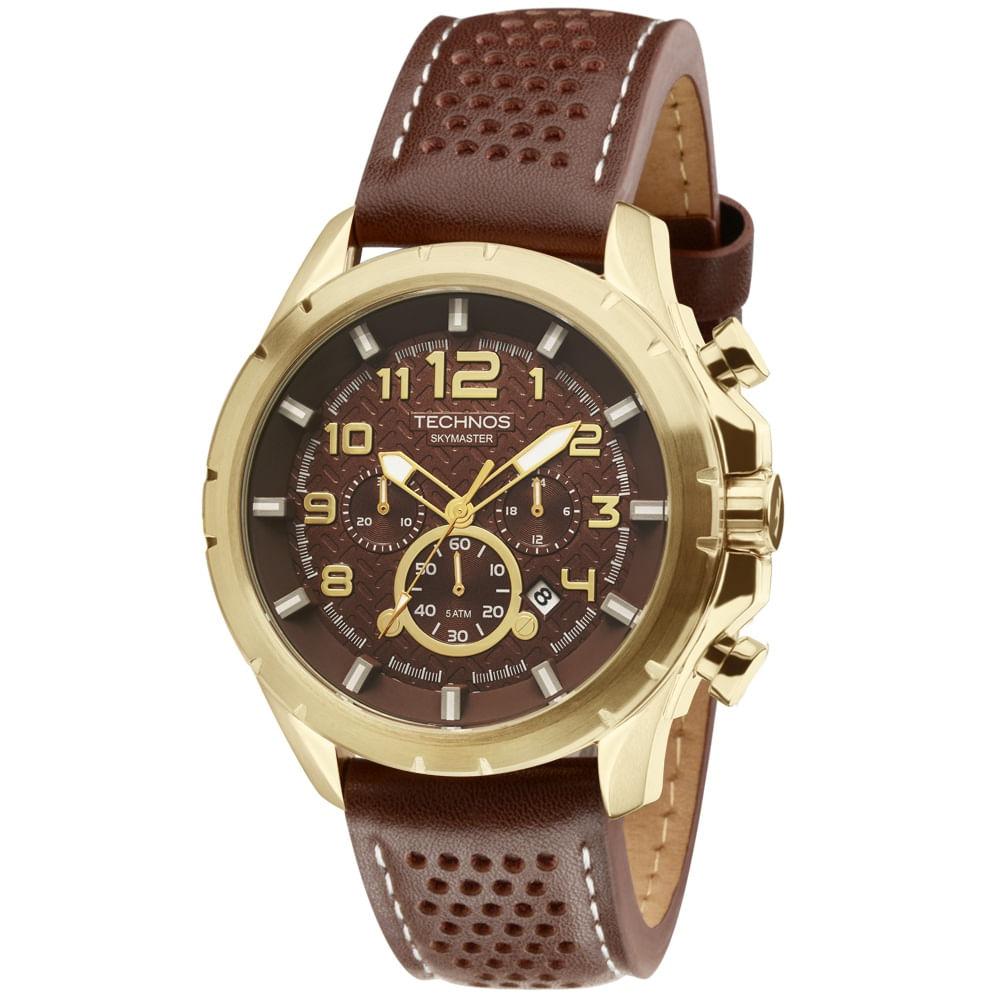 a49a51041af Relógio Technos Skymaster Masculino JS25BG 0M Dourado - timecenter