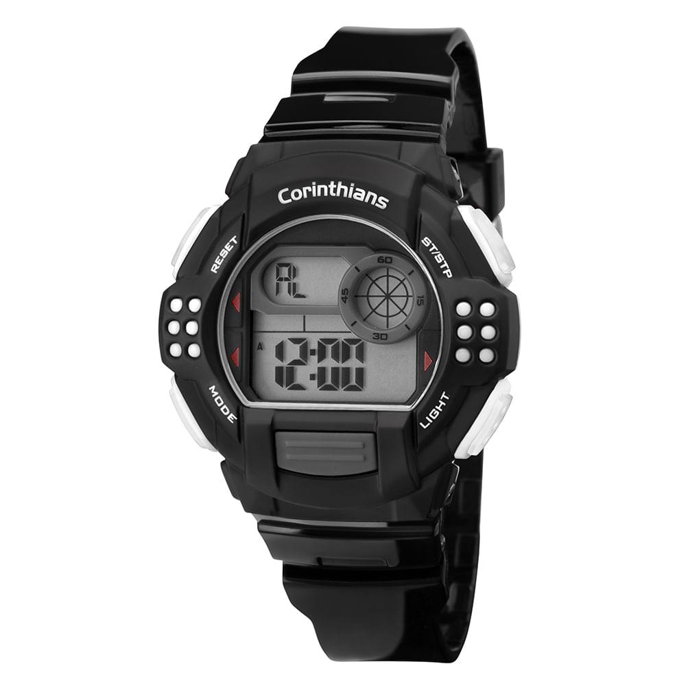 Relógio Masculino Corinthians Preto,Branco - COR13615A 8P - timecenter 0a6f0073c6