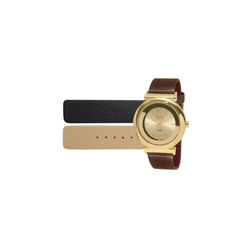 fdb4d2060d0 Relógio Dumont Feminino VIP DU2036LUG 2D Dourado - timecenter