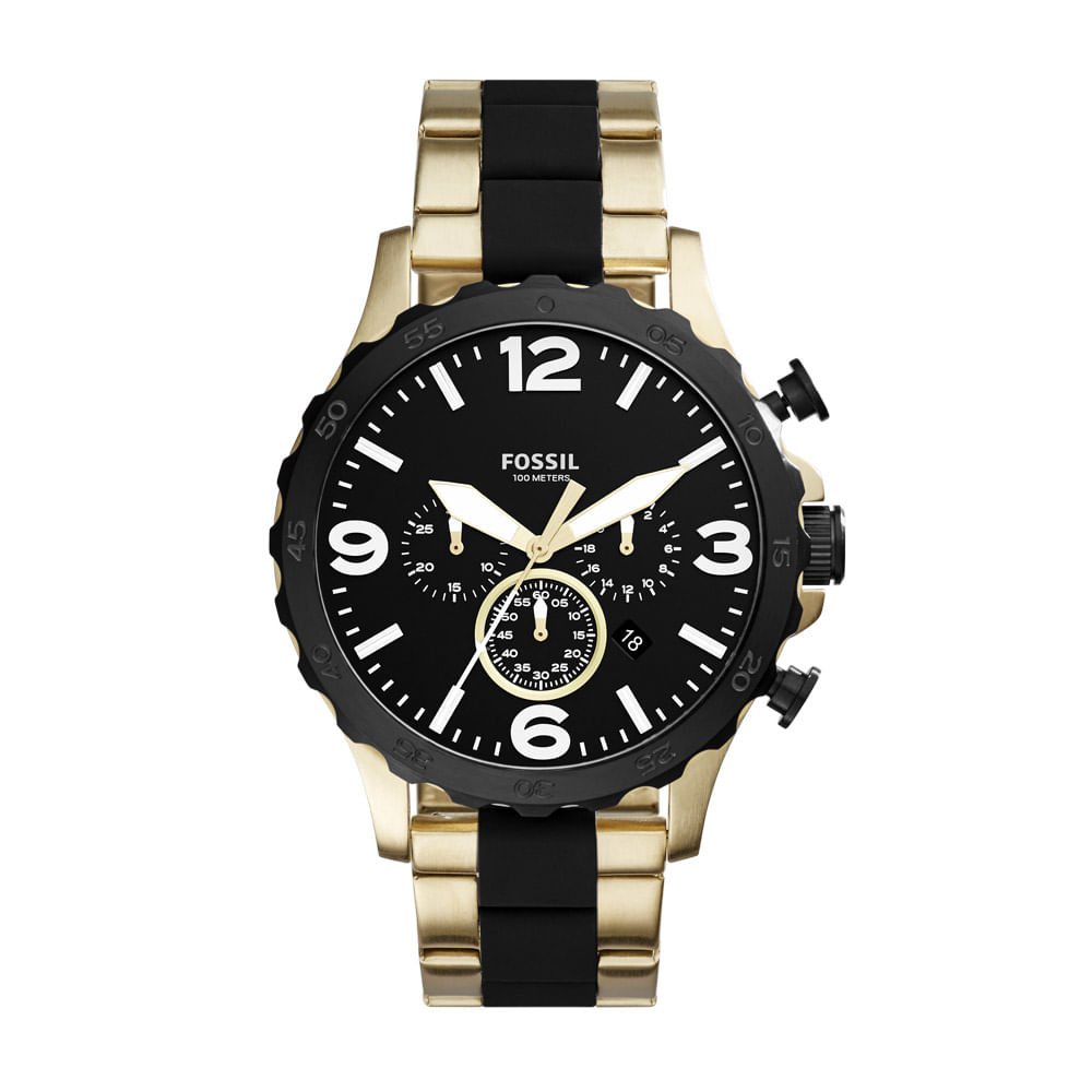 f0e01a3be Relógio Fossil Masculino 50Mm Nate - JR1526 4PN - fossil