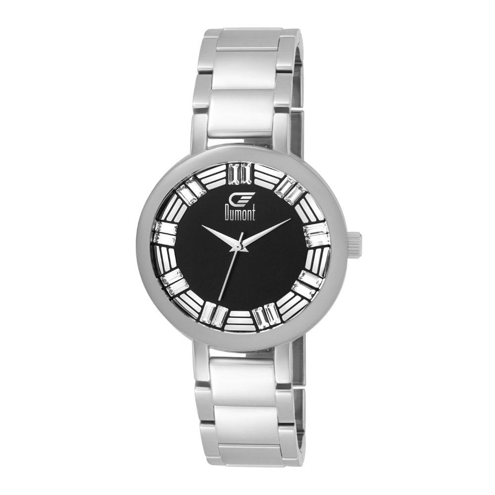4a0b97fb422 Relógio Dumont Splèndore DU2039LUN 3P Prata - Tempo de Black Friday