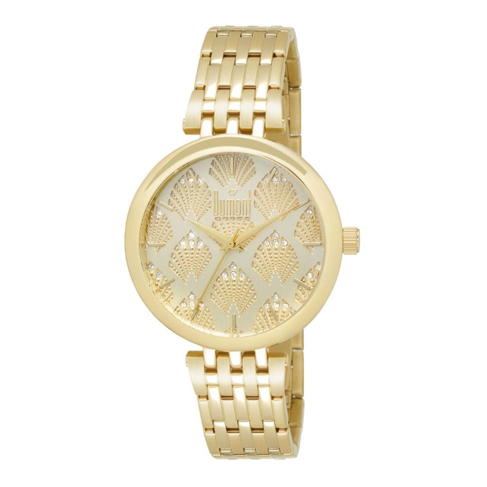 16d075644be Relógio Dumont Splèndore DU2039LUQ 4D Dourado - timecenter