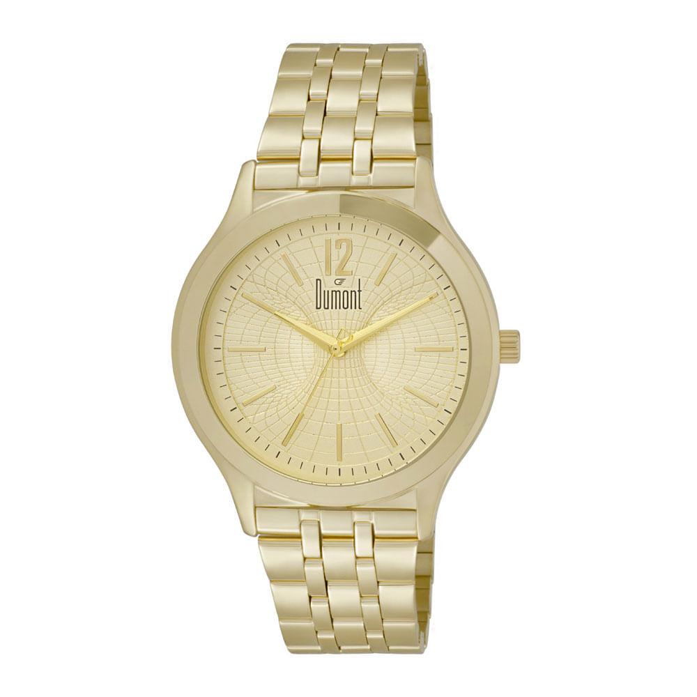 Relógio Dumont Slim DUGL30AK 4D Dourado - timecenter e359fff801