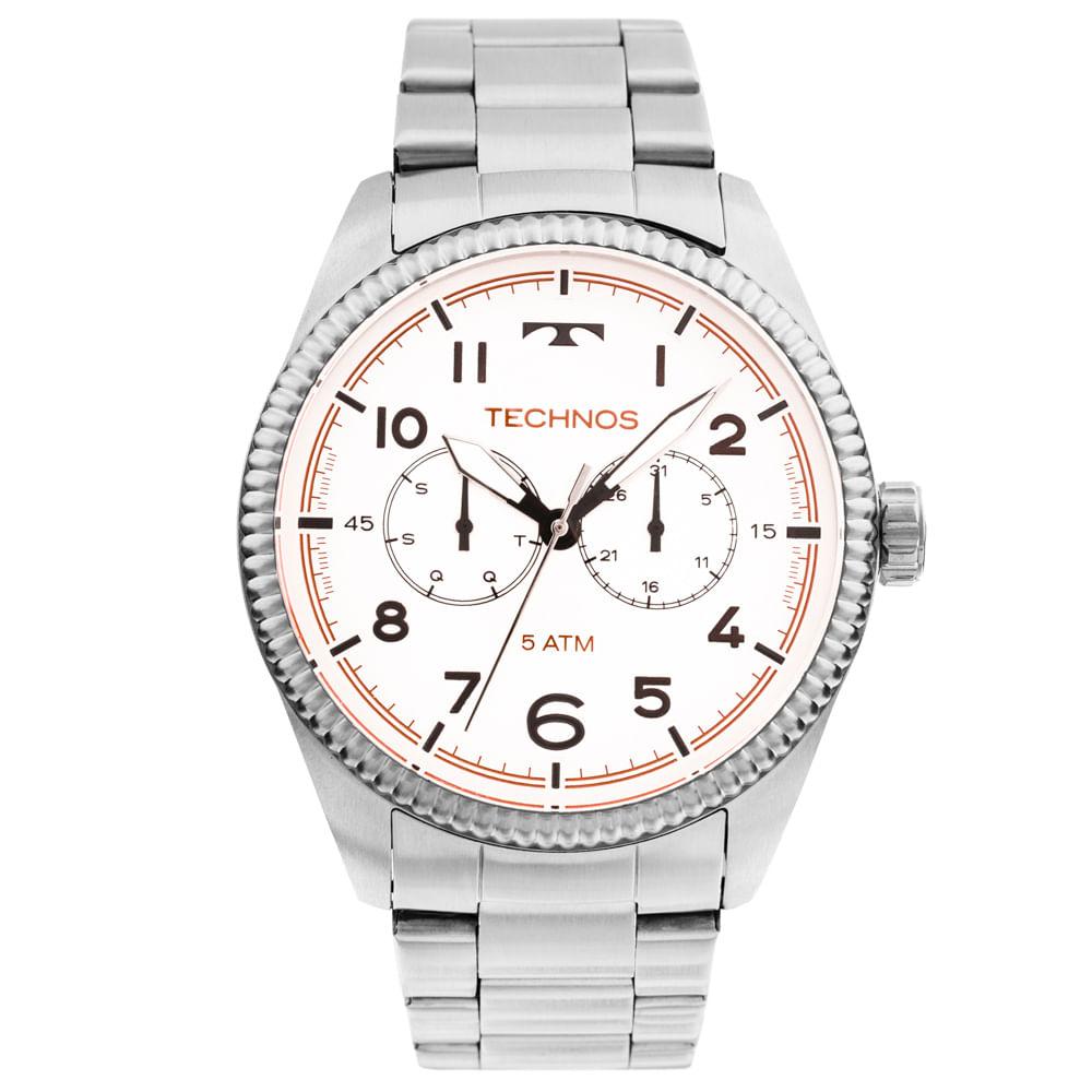 Relógio Technos Golf 6P25BK 1B Prata - Tempo de Black Friday c204494534