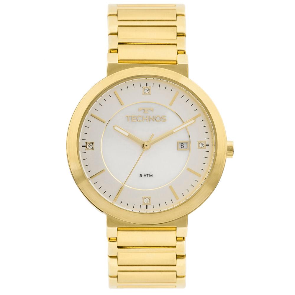 73921d3517e Relógio Technos St.moritz 2115KTL 4B Dourado - timecenter