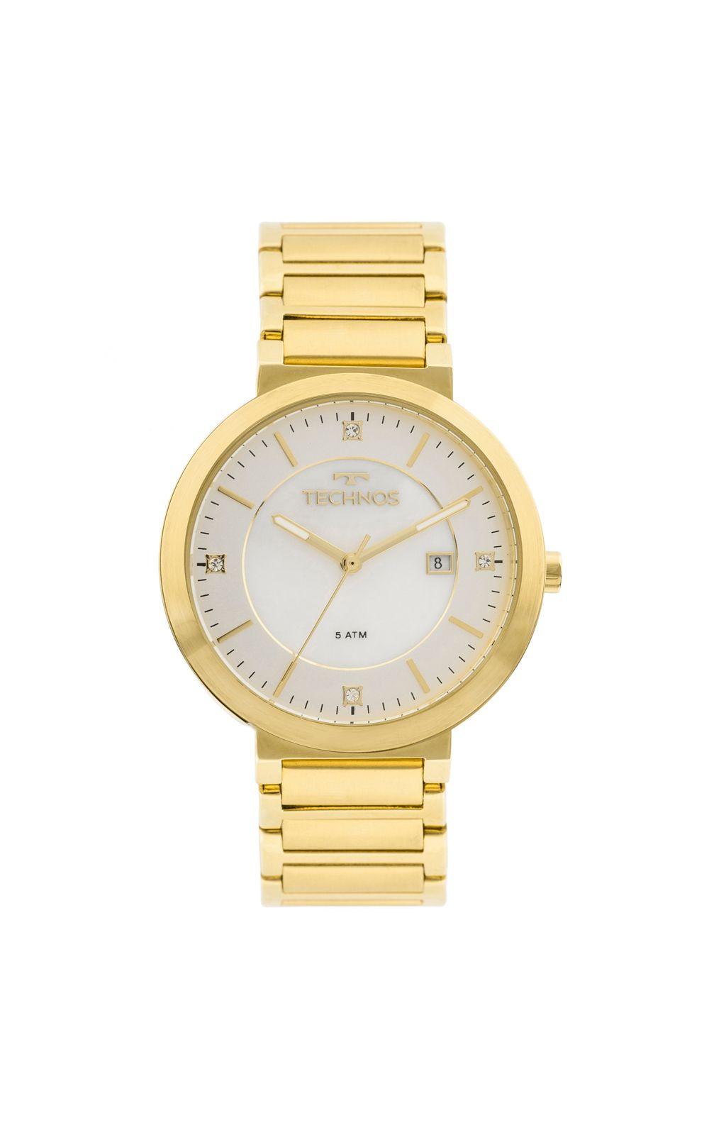 3046cc87f5c2d Relógio Technos St.moritz 2115KTL 4B Dourado