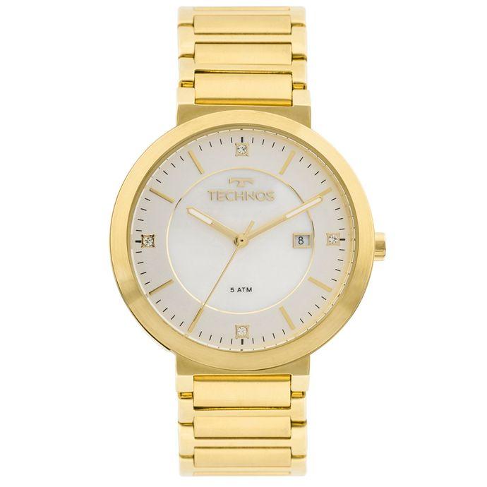 b9a83b14a6606 Relógio Technos St.moritz 2115KTL 4B Dourado