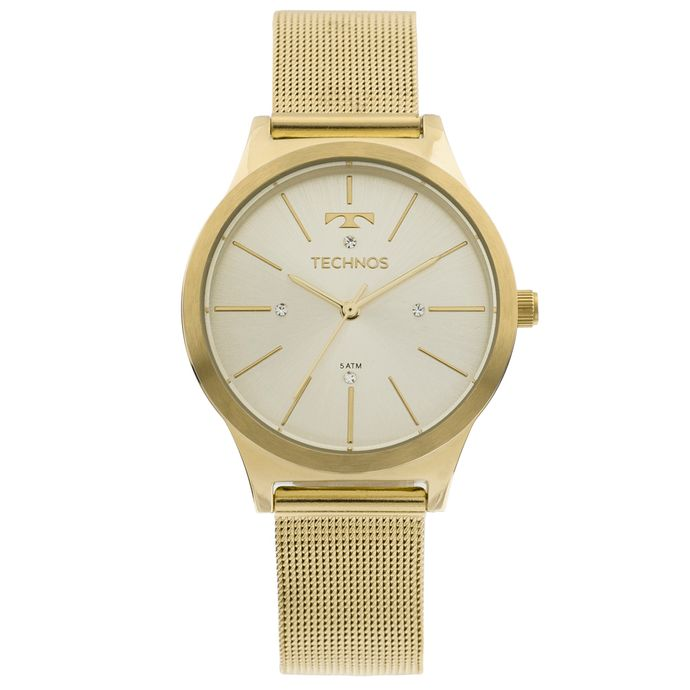 81724ce1ab22f Relógio Technos Trend 2039BD 4D Dourado