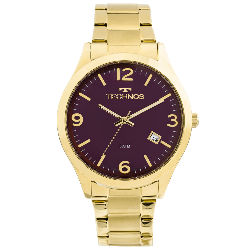 b0b8c606af0 Relógio Technos Dress 2315ACD 4N Dourado - timecenter
