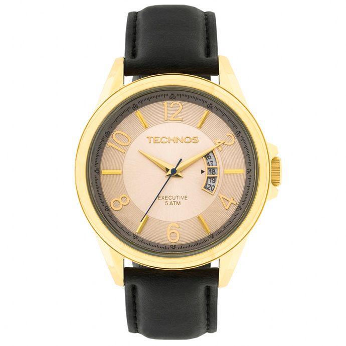 Relógio Technos Executive Masculino 2115KTE 2X Dourado 4dcc867621