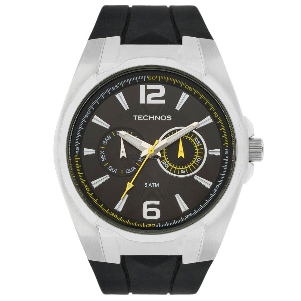 479b380df1d Relógio Technos Racer 6P25BI 8P Prata - timecenter