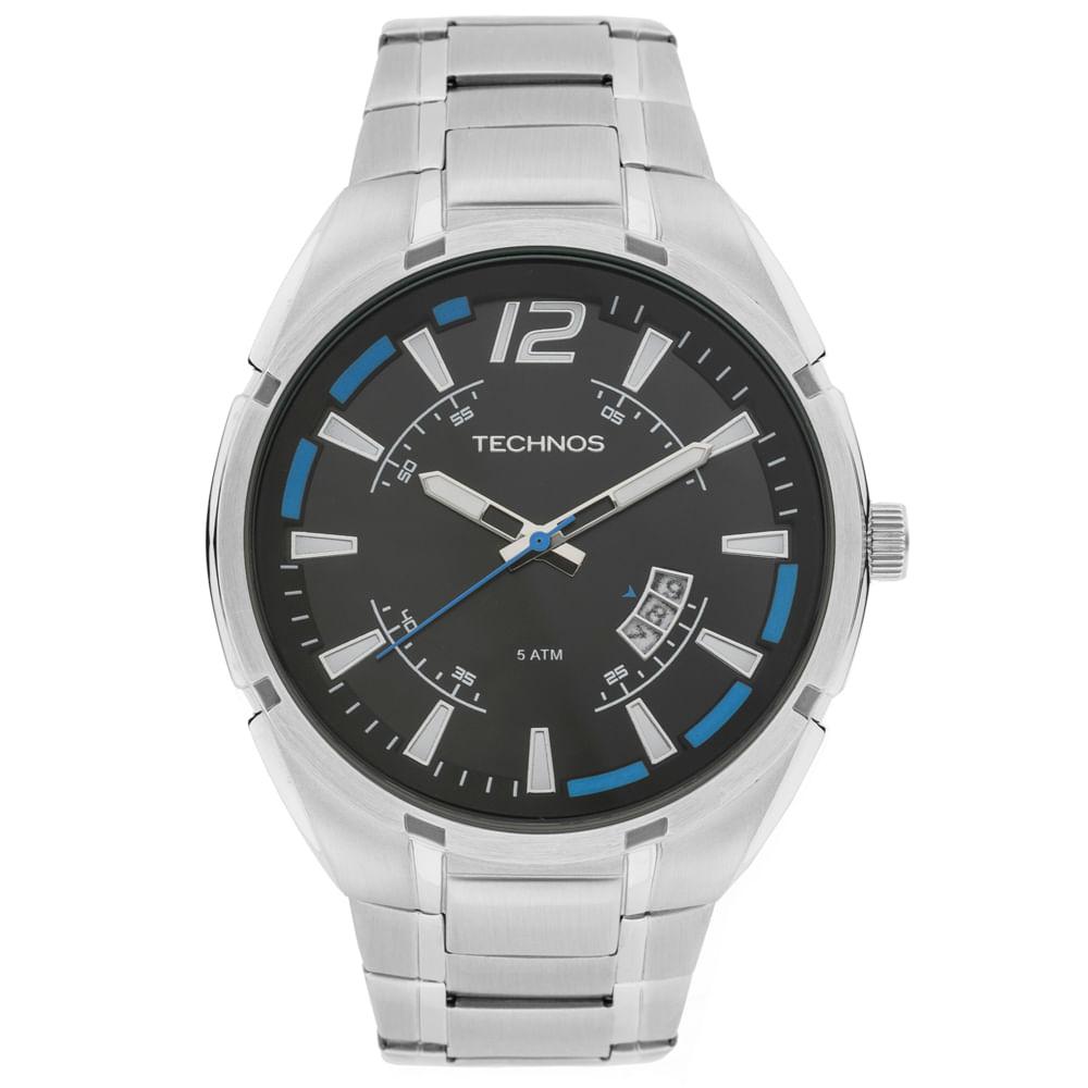 Relógio Technos Racer 2115KTD 1A Prata - timecenter 70251d116d