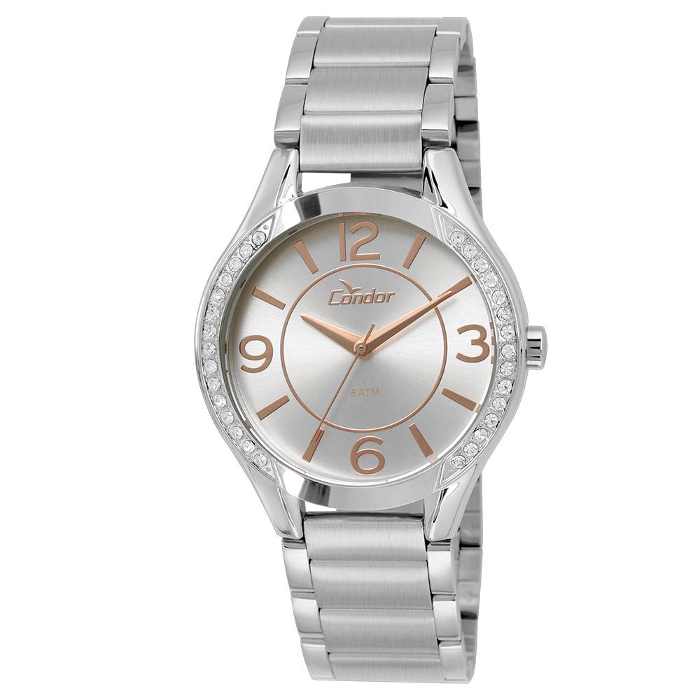 2a6b5e69e29 Relógio Condor Feminino CO235KRF 3K - Prata