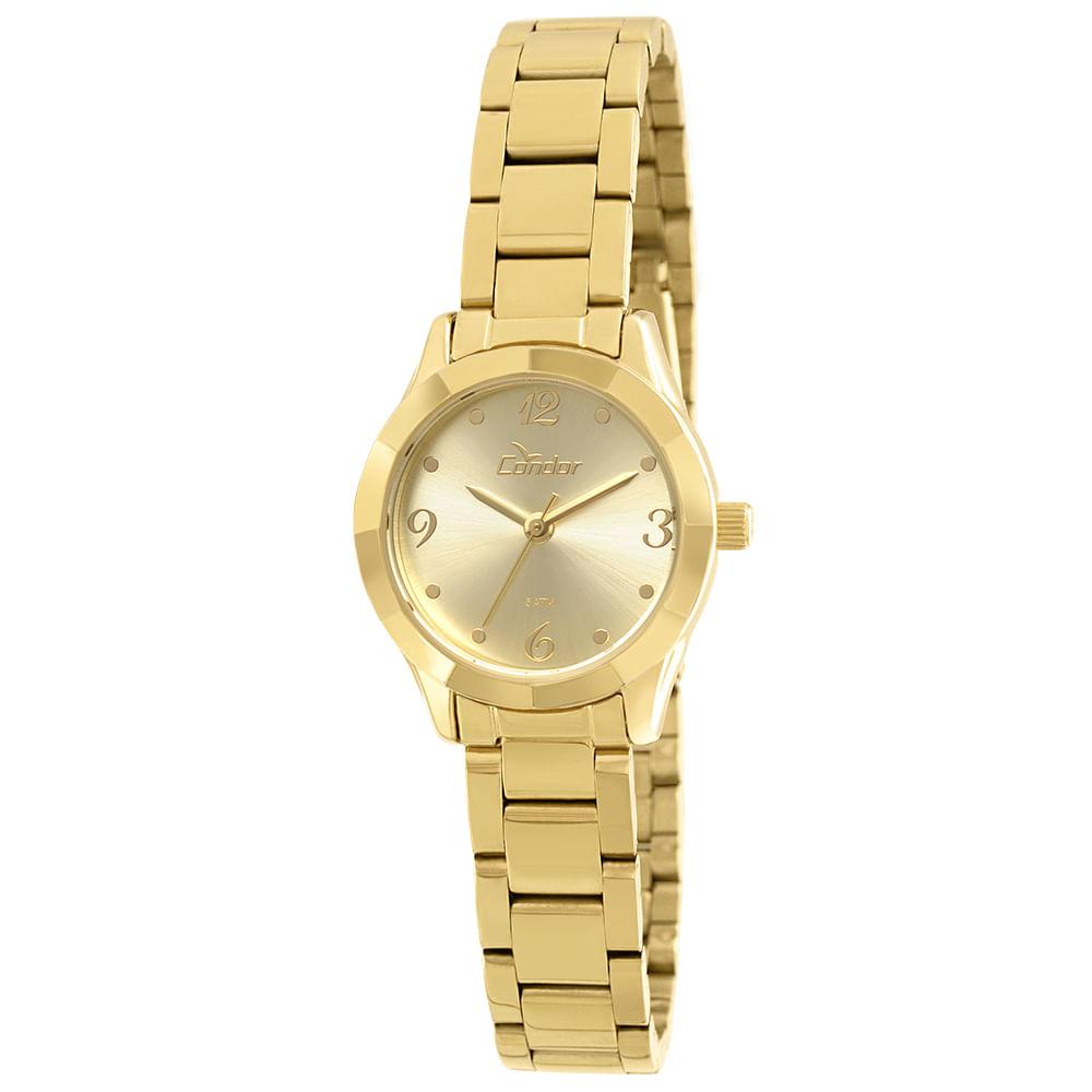 7e60882992a Relógio Condor Feminino Mini CO2035KOZ 4D - Dourado - condor