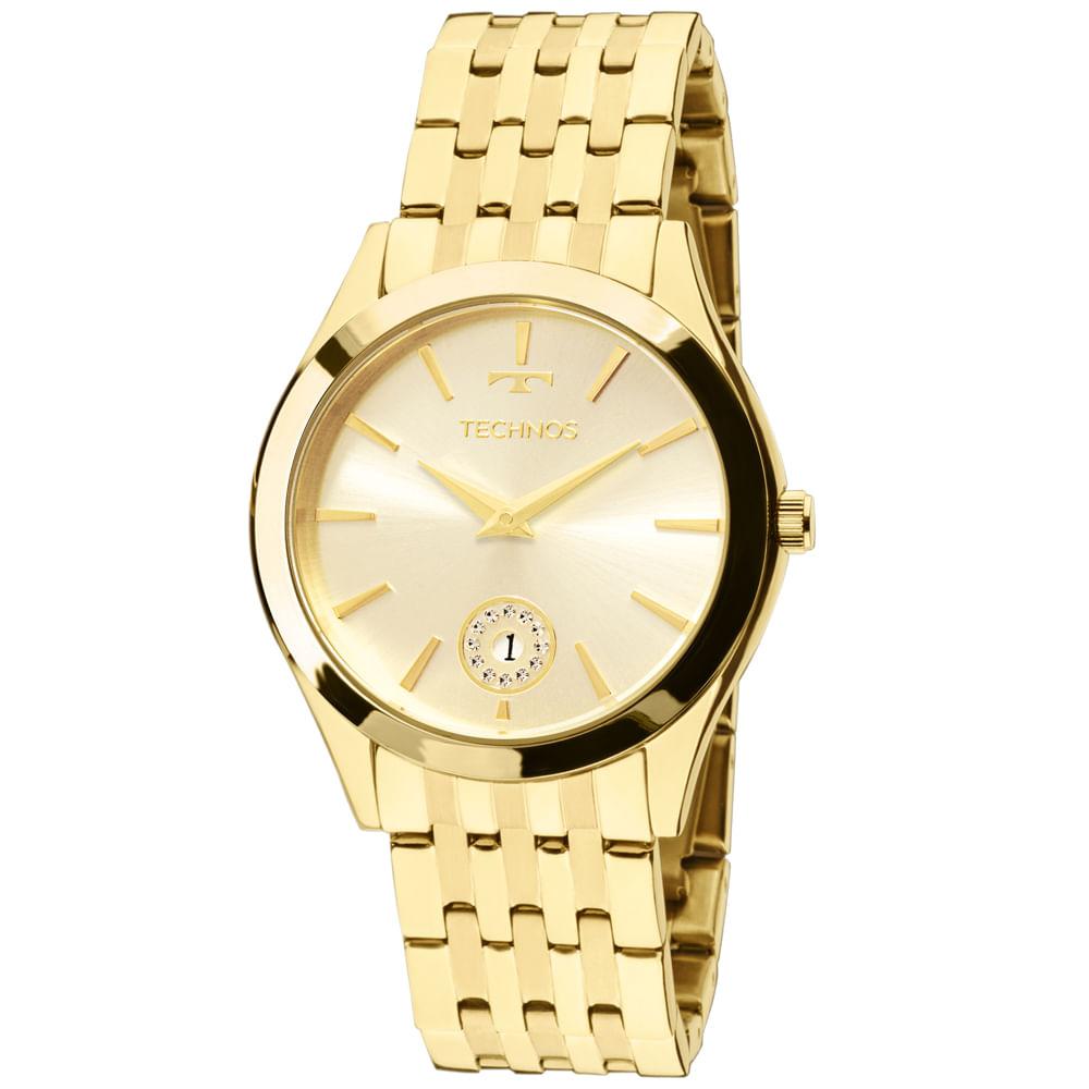 d847cfb3f2b Relógio Technos Ladies 1M15AQ 4X Dourado - timecenter
