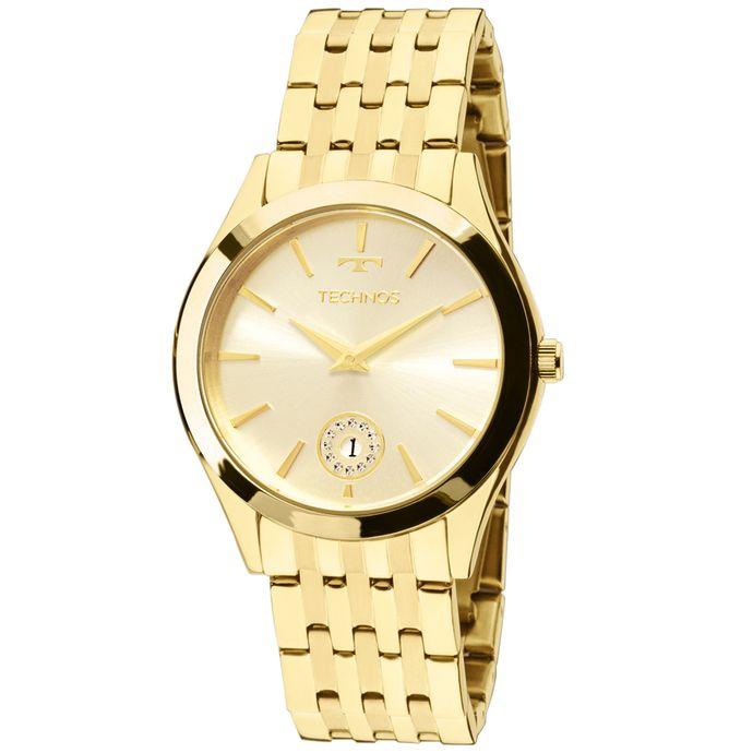 Relógio Technos Ladies 1M15AQ 4X Dourado 51c2d229c0