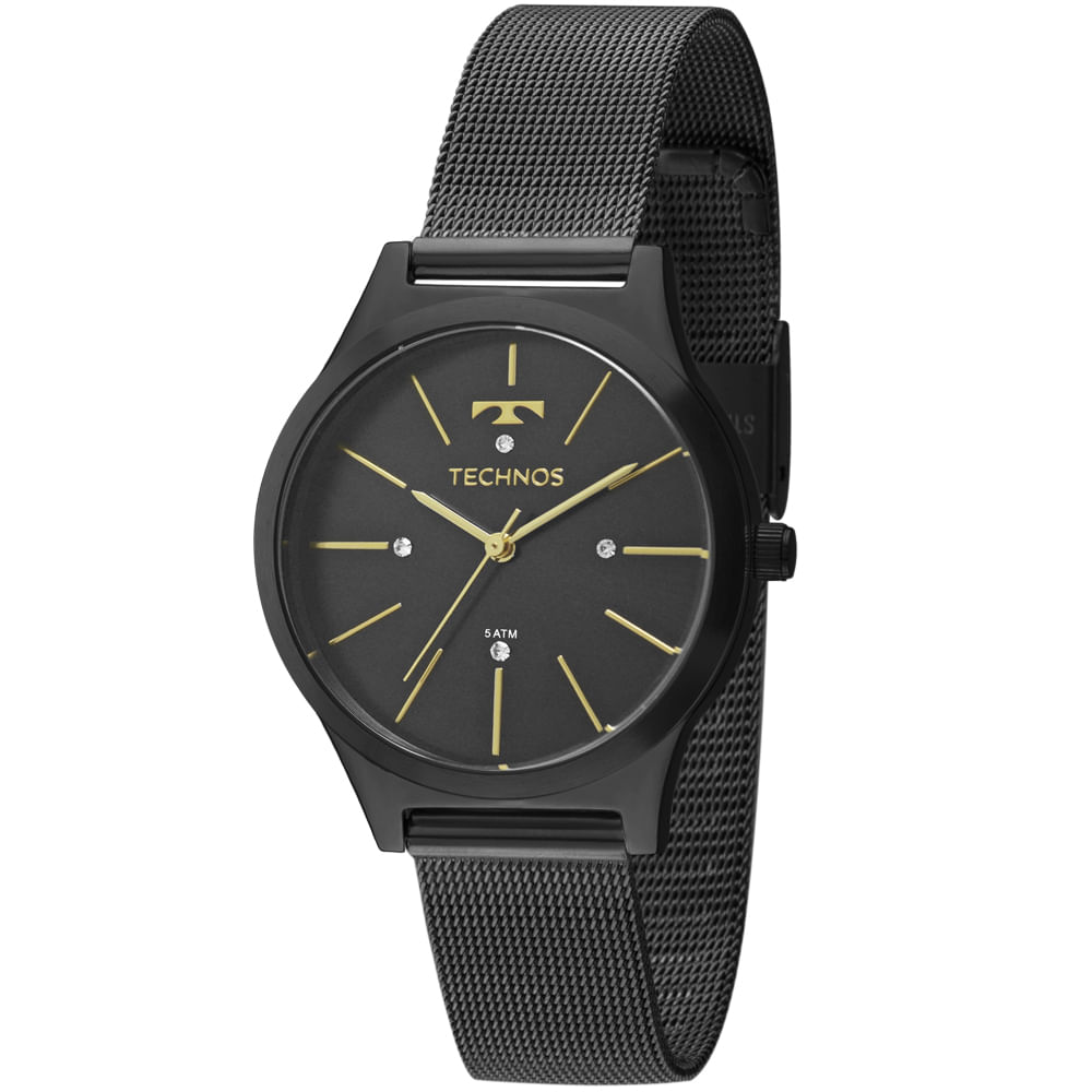 Relógio Technos Trend 2039BG 4P Preto - timecenter 14df18a583