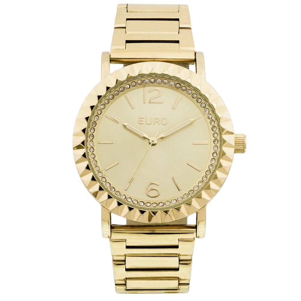 afe2b93a939 Relógio Euro Feminino Textura Mix EU2035YDT 4D - Dourado - timecenter
