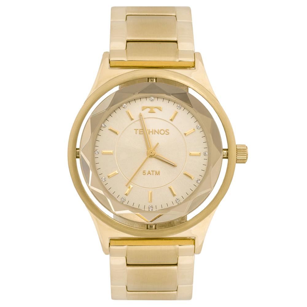 701ca518c8280 Relógio Technos Crystal 2035MIC 4X Dourado - technos
