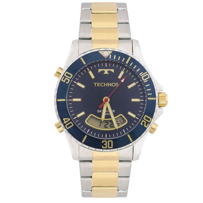 618488c21f6 Relógio Technos Skydiver T205JC 5A Bicolor - technos