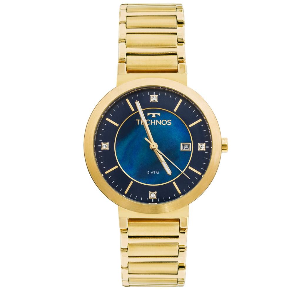0e868582a1dcb Relógio Technos St.moritz 2115KTJ 4A Dourado - timecenter