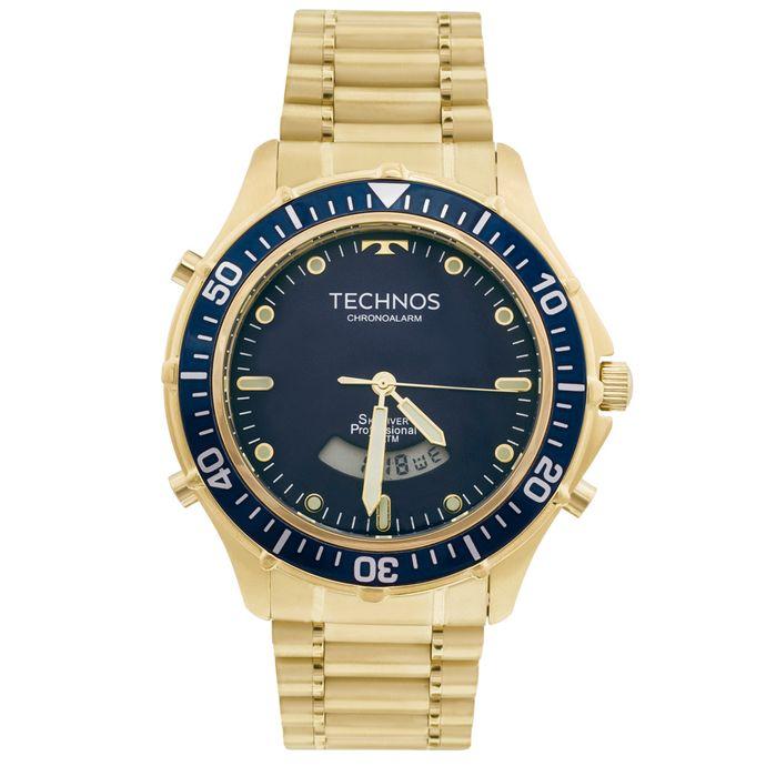 78c9ffa8d3951 Relógio Technos Skydiver T205IZ 4A Dourado