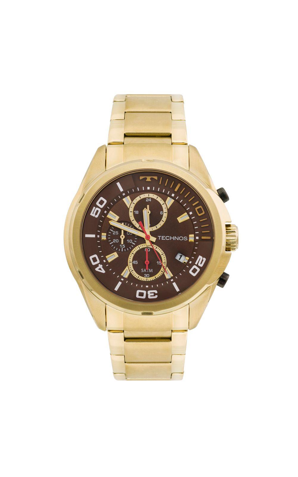 59bf1d2f429 Relógio Technos Skymaster JS15BI 4M Dourado. undefined